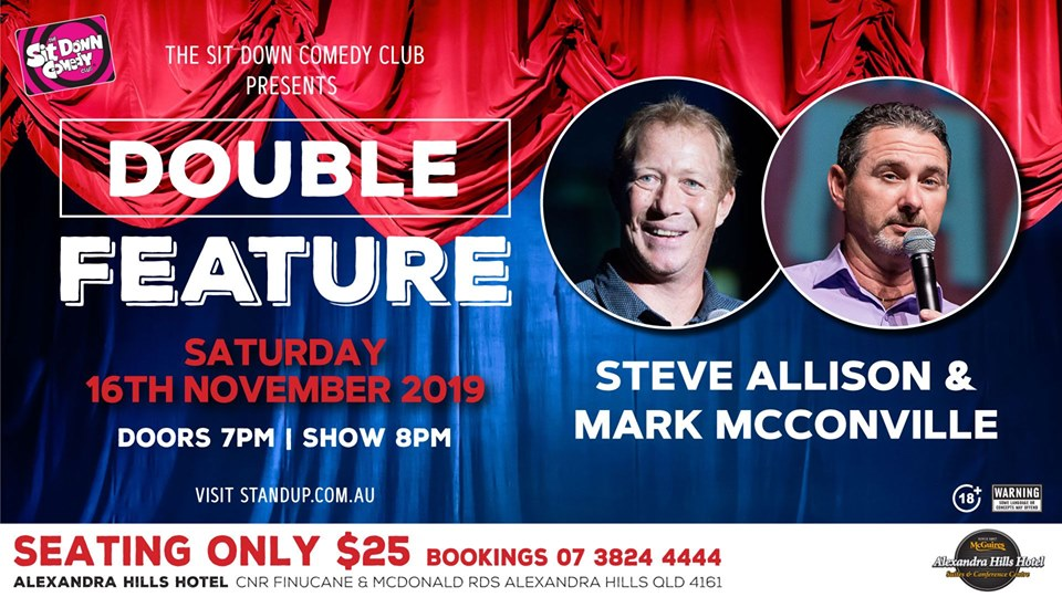 Live Shows: Steve Allison & Mark McConville - Nov 16 - Sit Down Comedy Club