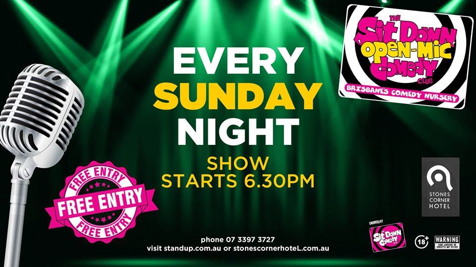 Live Shows: Open Mic Comedy Night - Nov 17 - Stones Corner Hotel