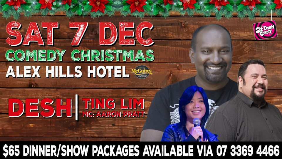Live Shows: Stand Up Comedy With Desh - Dec 08 - Alexandra Hills Hotel