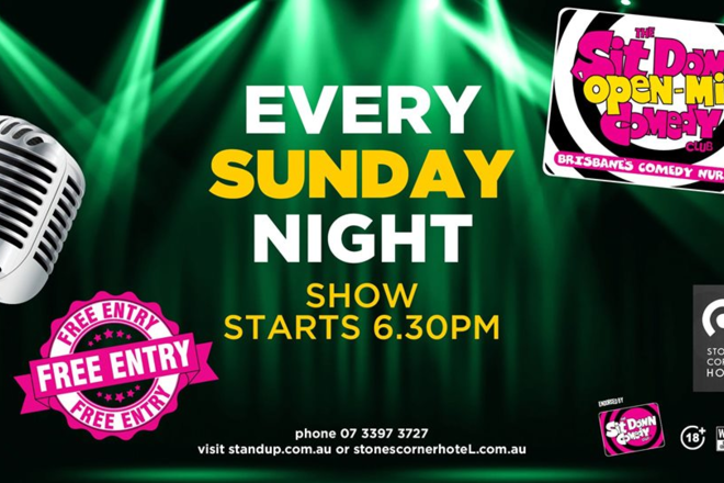 Live Shows: Open Mic Comedy Night - Dec 08 - Stones Corner Hotel