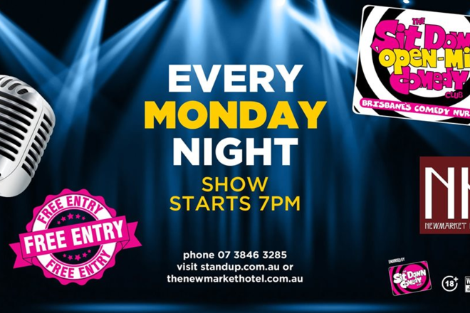 Live Shows:  Open Mic Comedy Night - Jan 06 - Newmarket Hotel