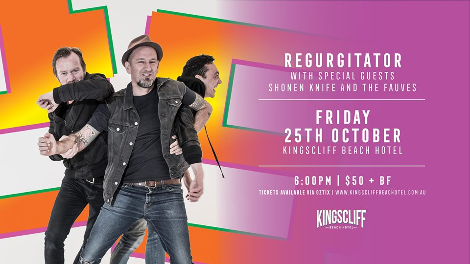 Live Shows: Regurgitator - Oct 25 - Kingscliff Beach Hotel