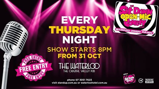 Live Shows: Open Mic Comedy Night - Oct 31 - Waterloo Hotel